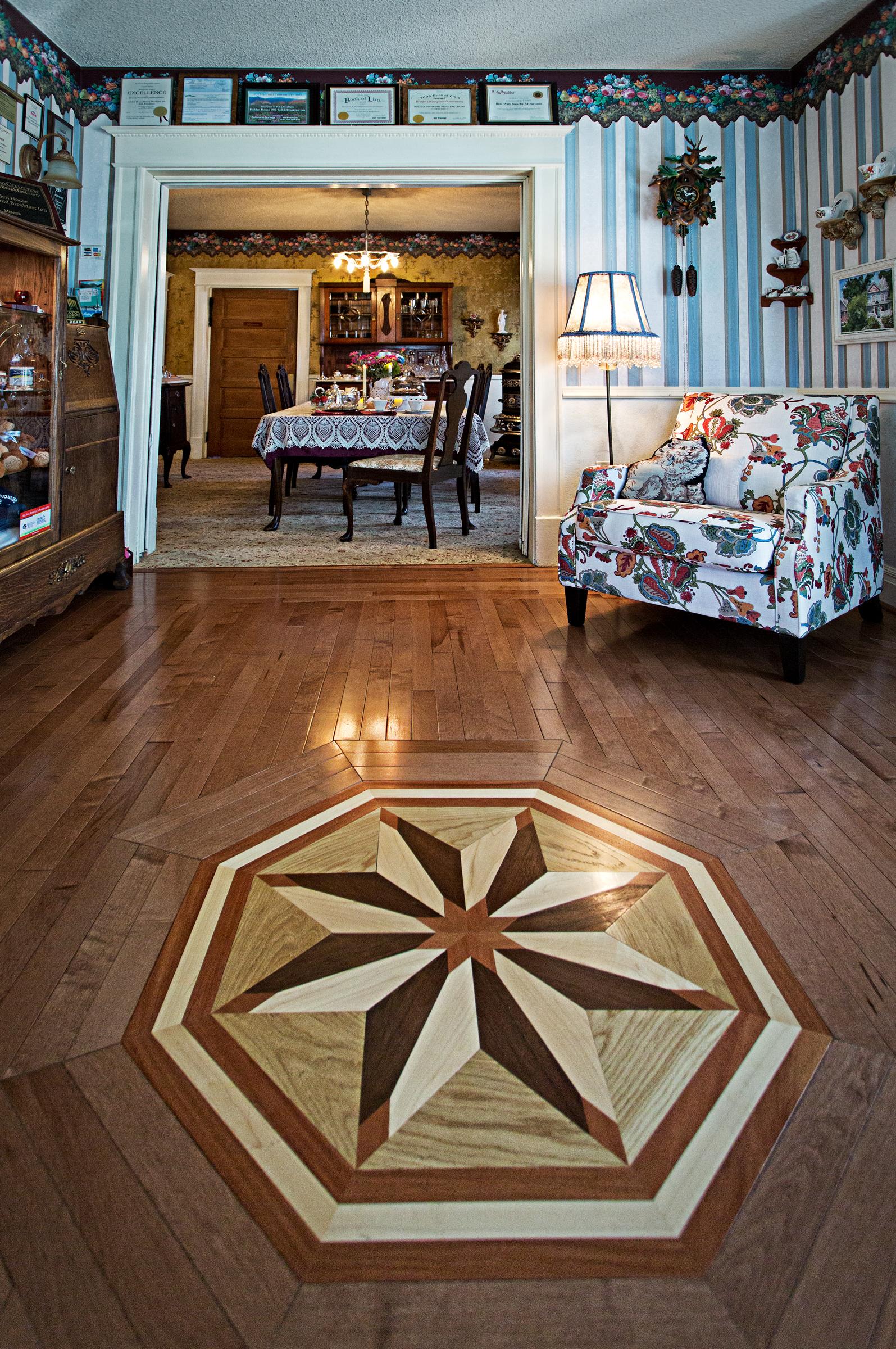 Front Parlor starburst floor