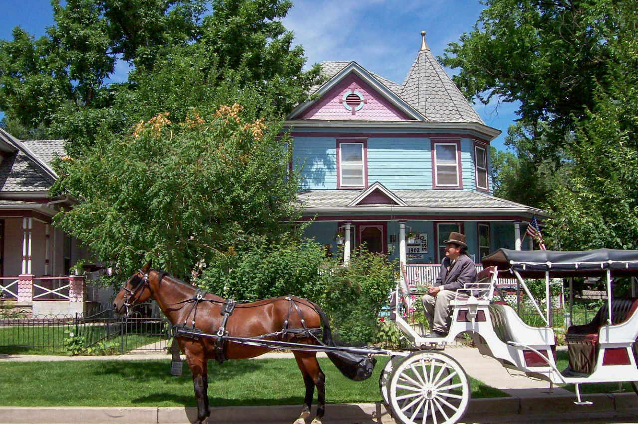 Carriage Holden House front both houses 2017