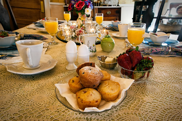 Gourmet breakfast fare