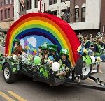 St Patricks Day Parade float